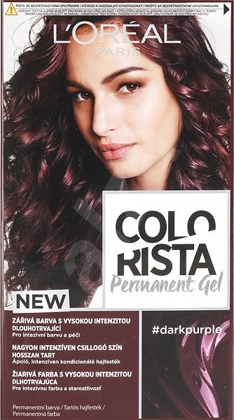ĽORÉAL PARIS Colorista Permanent Gel Dark Purple 60 ml - Barva na vlasy