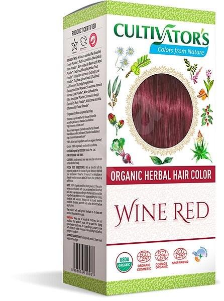 CULTIVATOR Natural 14 Vínově červená 4× 25 g - Přírodní barva na vlasy