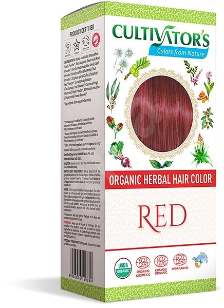 CULTIVATOR Natural 13 Červená 4× 25 g - Přírodní barva na vlasy
