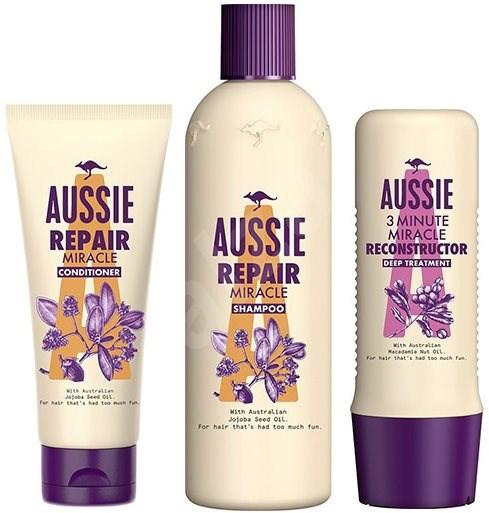 AUSSIE Repair Set Shampoo 300 ml + Conditioner 200 ml + Mask 250 ml - Kosmetická sada