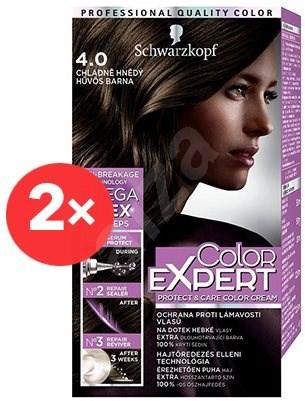 SCHWARZKOPF COLOR EXPERT 4-0 Chladně hnědý 2× 50 ml - Barva na vlasy