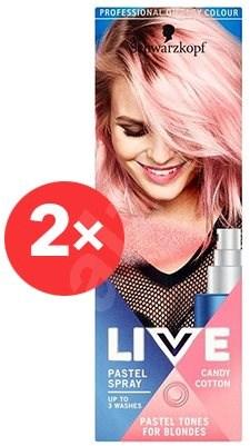 SCHWARZKOPF LIVE Pastel Spray Candy Cotton 2× 125 ml - Barevný sprej na vlasy