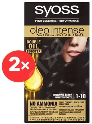 SYOSS Oleo Intense 1-10 Intenzivně černý 2× 50 ml - Barva na vlasy
