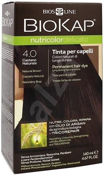 BIOKAP Nutricolor Delicato Brown Gentle Dye 4.00 (140 ml) - Přírodní barva na vlasy
