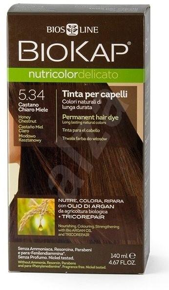 BIOKAP Nutricolor Delicato Honey Chestnut Gentle Dye 5.34 (140 ml) - Přírodní barva na vlasy