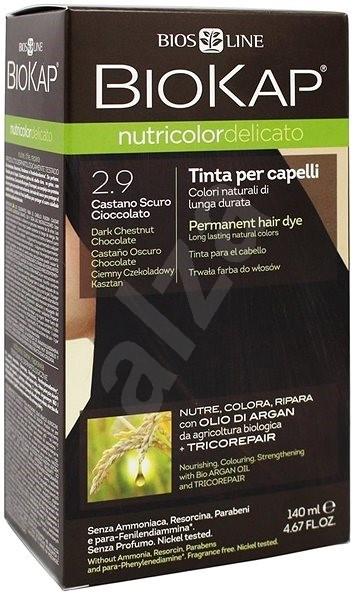 BIOKAP Nutricolor Delicato 2.90 Dark Chestnut Chocolate Gentle Dye 140 ml - Přírodní barva na vlasy