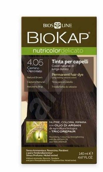 BIOKAP Nutricolor Delicato Natural light Chestnut Gentle Dye 5.0 (140 ml) - Přírodní barva na vlasy