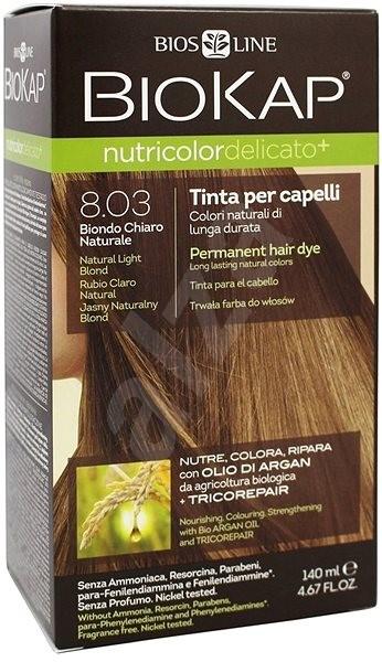 BIOKAP Nutricolor Extra Delicato + Natural Light Blond Gentle Dye 8.03 (140 ml) - Přírodní barva na vlasy