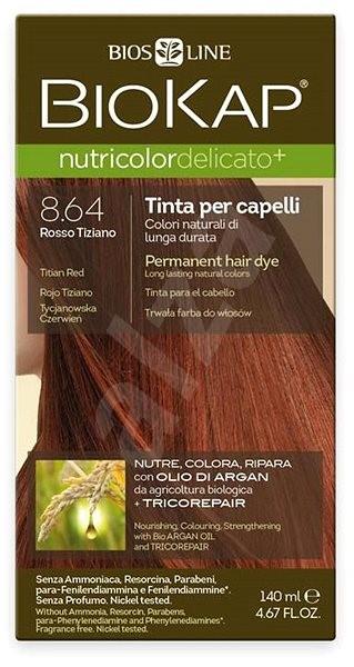 BIOKAP Nutricolor Extra Delicato + Titian Red Gentle Dye 8.64 (140 ml) - Přírodní barva na vlasy