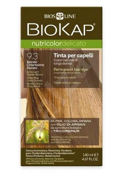 BIOKAP Nutricolor Extra Delicato + Extra Light Golden Blond Gentle Dye 9.30 (140 ml) - Přírodní barva na vlasy