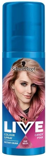 SCHWARZKOPF LIVE Colour Sprays Candy Pink (120 ml) - Barevný sprej na vlasy