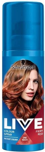 SCHWARZKOPF LIVE Colour Sprays Fiery Red (120 ml) - Barevný sprej na vlasy