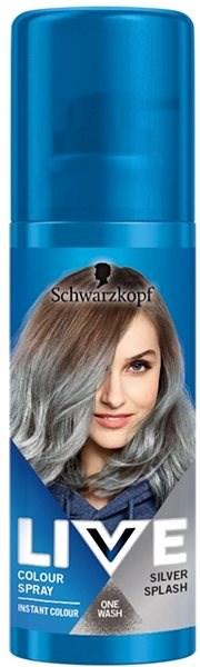 SCHWARZKOPF LIVE Colour Sprays Silver Splash (120 ml) - Barevný sprej na vlasy