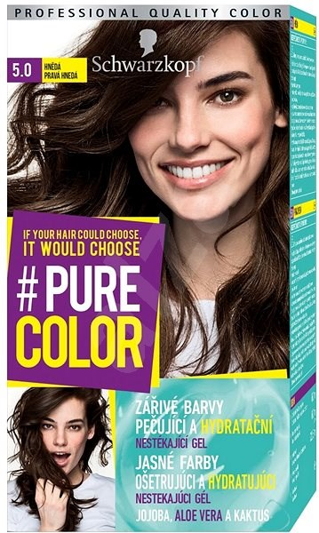 Schwarzkopf Pure Color 50 Hnědá 60 Ml Barva Na Vlasy Alzacz