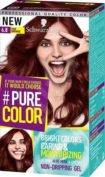 ec7b30768 SCHWARZKOPF PURE COLOR 6.80 Růžová Brownie 60 ml - Barva na vlasy ...