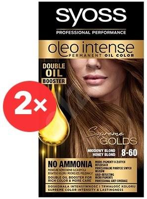 SYOSS Oleo Intense 8-60 Medově plavý 2× 50 ml - Barva na vlasy