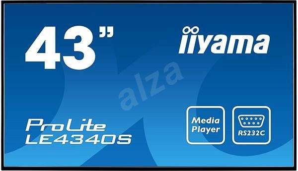 "43"" iiyama ProLite LE4340S-B1 - Velkoformátový displej"