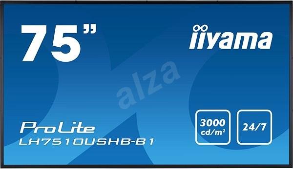 """75"""" iiyama LH7510USHB-B1 - Velkoformátový displej"""