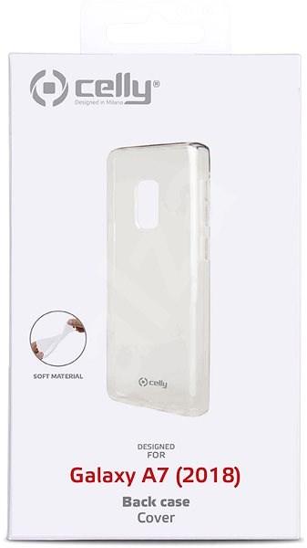 CELLY Gelskin pro Samsung Galaxy A7 (2018) bezbarvý - Kryt na mobil