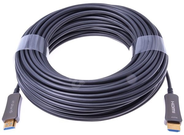 PremiumCord HDMI, optický fiber High Speed with Ether. 4K@60Hz kabel 100m, M/M, zlacené konektory - Video kabel