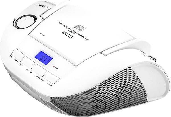 ECG CDR 800 U bílé - Radiomagnetofon