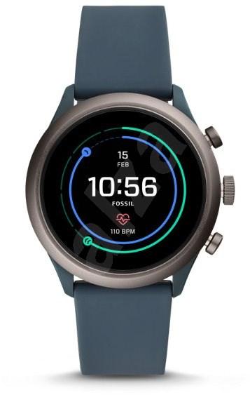 Fossil Sport Smokey Blue Silicone - Chytré hodinky
