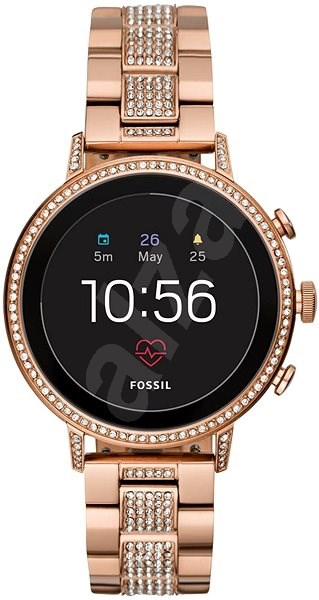 Fossil Venture HR Rose Gold-Tone Stainless Steel - Chytré hodinky