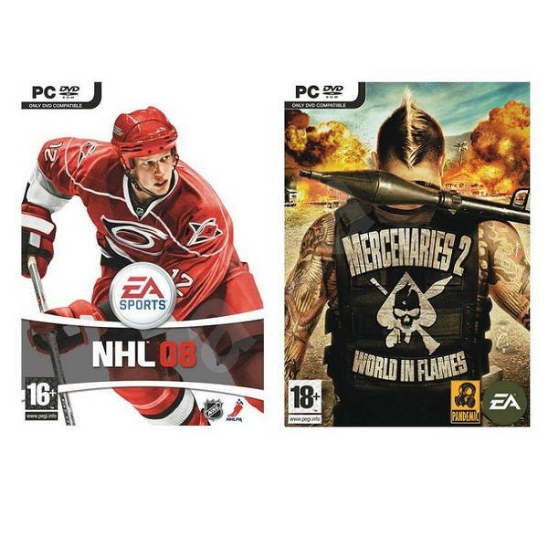 PC - DOUBLE UP - NHL 08 + Mercenaries 2: World In Flames - Hra