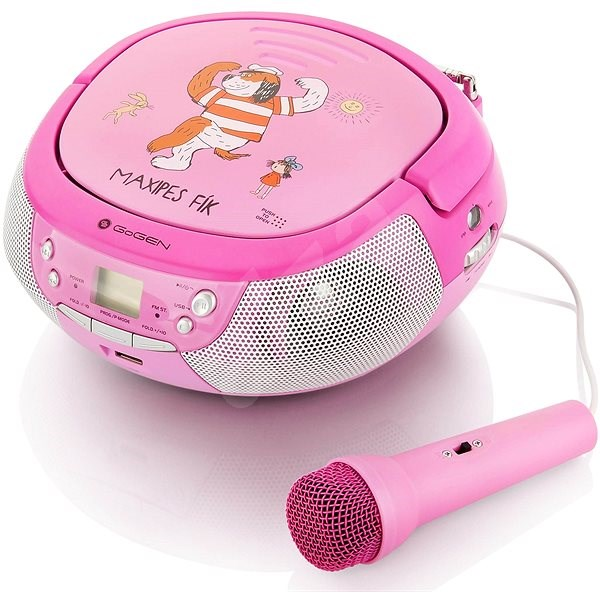 Gogen Maxipes Fík přehrávač P růžovo-purpurový - Radiomagnetofon