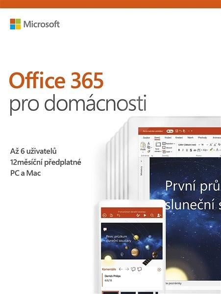 Microsoft Office 365 pro domácnosti (elektronická licence) - Kancelářský software