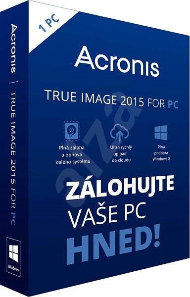 Acronis True Image 2015 CZ BOX pro 1 PC - Zálohovací software