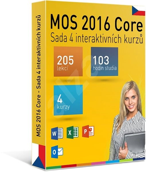 GOPAS MS MOS 2016 -  Sada 4 interaktivních kurzů na 365 dní CZ (elektronická licence) - Výukový program