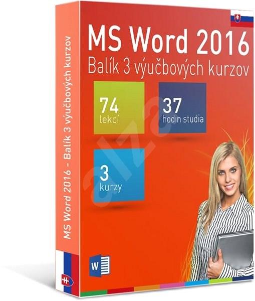 GOPAS MS Word 2016 - 3 samostudijní výukové kurzy na 365 dní SK (elektronická licence) - Výukový program