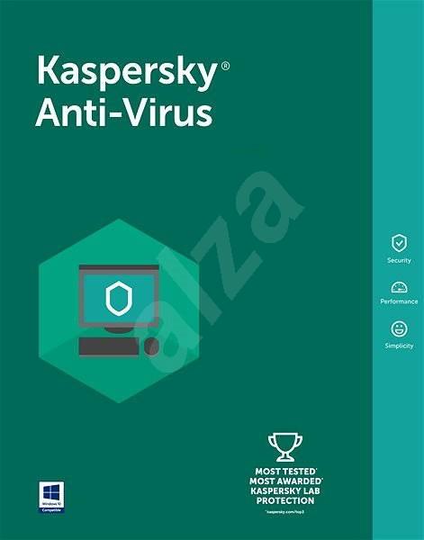 Kaspersky Anti-Virus 2016/2017 pro 4 počítače na 12 měsíců - Antivirus