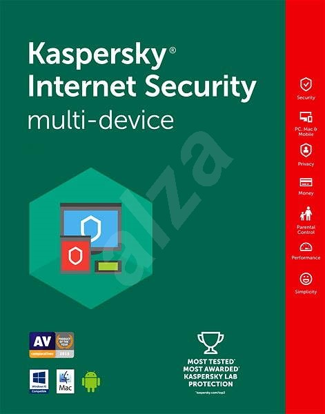 Kaspersky Internet Security multi-device pro 2 zařízení na 12 měsíců - Bezpečnostní software