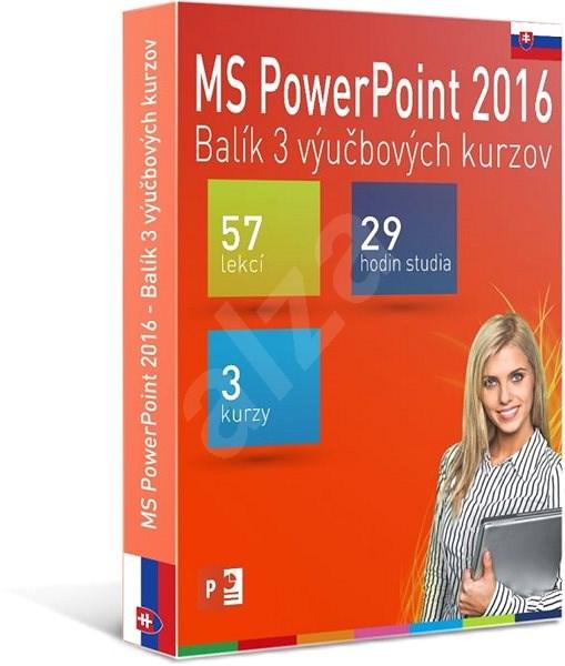 GOPAS MS PowerPoint 2016 - 3 samostudijní výukové kurzy na 365 dní SK (elektronická licence) - Výukový program