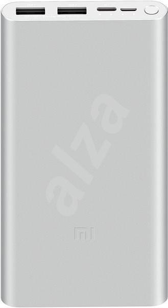 Xiaomi Mi 18W Fast Charge Power Bank 10000mAh stříbrná - Powerbanka