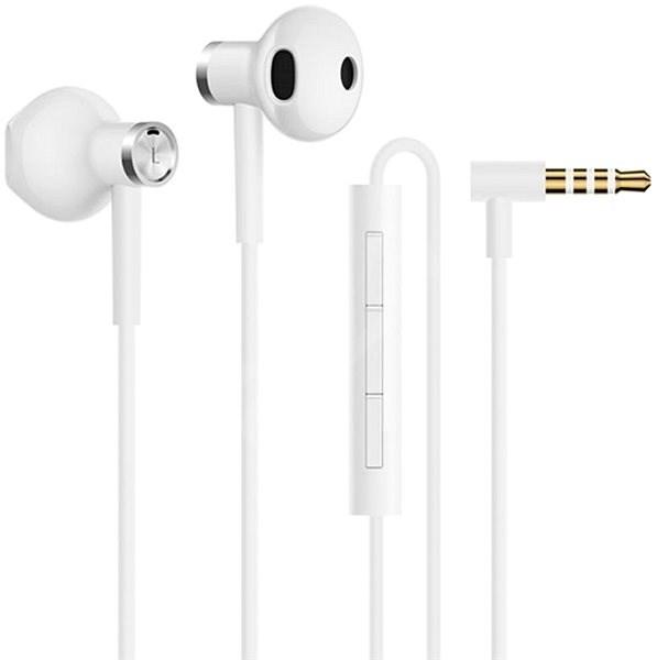 Xiaomi Mi Dual Driver Earphones White - Sluchátka