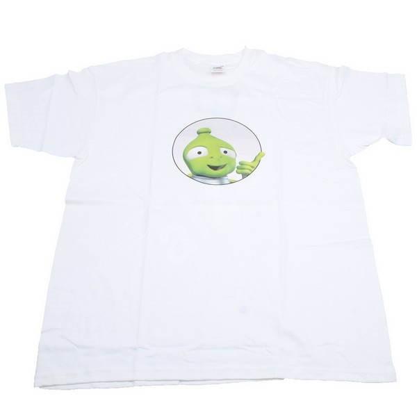 3cb664f528f2 Pánské tričko s krátkým rukávem Alza.cz - bílé s mimozemšťanem ...