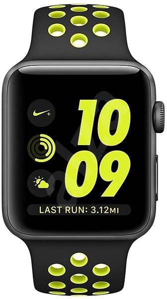 Apple Watch Nike+ 42mm Vesmírně šedý hliník s černým / Volt sportovním řemínkem Nike DEMO - Chytré hodinky