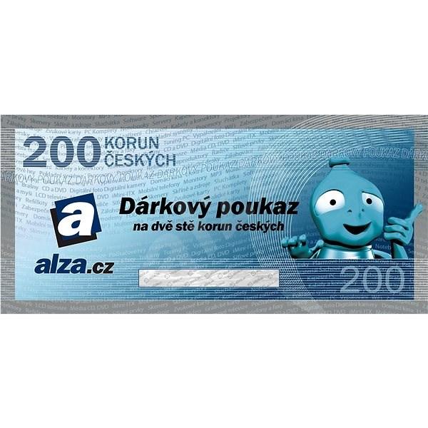Elektronický dárkový poukaz Alza.cz na nákup zboží v hodnotě 200 Kč - Poukaz