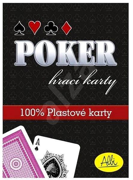 Poker - plastové karty, červené  - Karetní hra
