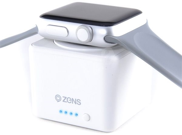 Zens Apple Watch Powerbanka 1300mAh bílá - Powerbanka