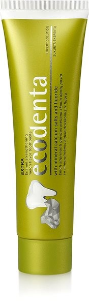 ECODENTA Melon flavor enamel strengthening toothpaste with mineral calcium salts and fluoride 100 ml - Zubní pasta