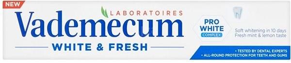 VADEMECUM Pro White & Fresh 75 ml - Zubní pasta