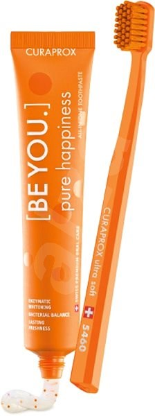 CURAPROX BE YOU 90 ml + CURAPROX CS 5460 Pure happiness orange - Zubní pasta