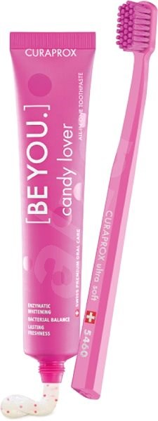 CURAPROX BE YOU 90 ml + CURAPROX CS 5460 Candy lover pink  - Zubní pasta