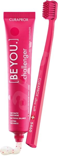 CURAPROX BE YOU 90 ml + CURAPROX CS 5460 Challenger red - Zubní pasta