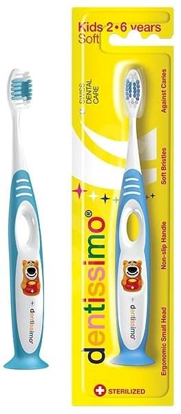 DENTISSIMO Kids, modrý - Dětský zubní kartáček