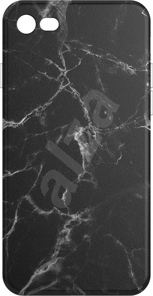 AlzaGuard - iPhone 7/8/SE 2020 - Černý Mramor - Kryt na mobil